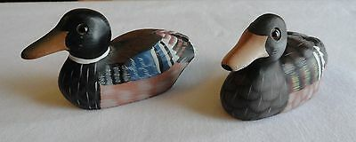 2 vintage People repub of China hand crafted Natural stone Marble DUCK figurines
