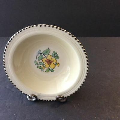 Crown Ducal A3122 Yellow Flower Made In England Fruit Sauce Bowl(s) HTF