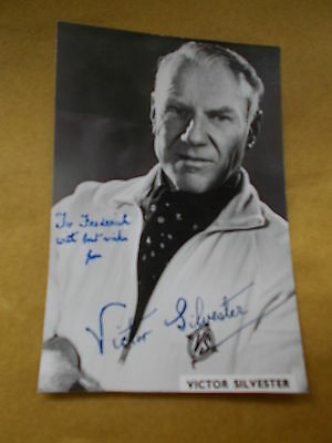 Postcard Sized Photographic Print Has The Original Signature of Victor Silvester