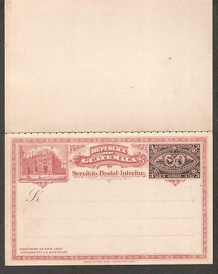 1897 Guatemala UPU 3 centavos reply postal cards attached American Bank Note Co