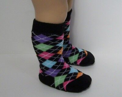 Debs BLACK /& WHITE Tall Stripe Knee Socks For Chatty Cathy
