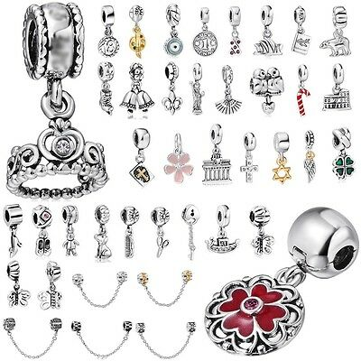 Pendant Spacer Beads Fit European Charm 925 Sterling Silver Bracelets Chain Gift