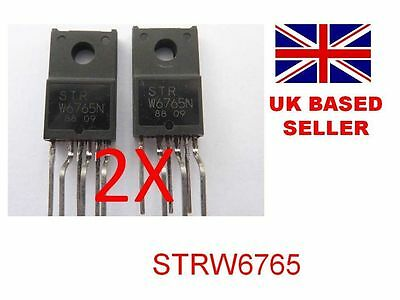 STRW6765 STR W6765 IC Toshiba 42WLT58 stuck in standby - Pack of TWO