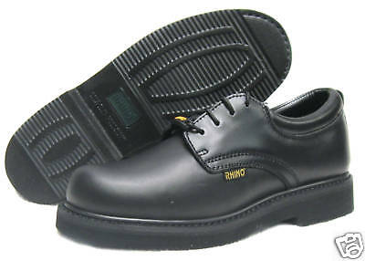 Rhino Mens 40S01 Steel Toe Oil and Slip Resistant Work Oxfords Shoes [ Black ]