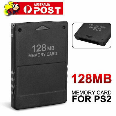 2Pcs Sony PlayStation 2 PS2 Memory Card 128MB Brand New
