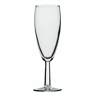 Utopia Saxon Champagne Flutes in Clear Made of Glass 5.5 oz / 160 ml