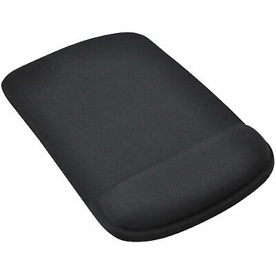 Black Mouse Mat/Pad Ergonomic Comfort Computer PC Square - By TRIXES