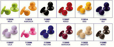 Set 10 Pz. Bottoni Isacco X Giacca Cuoco A Scelta 14 Colori Buttons Jacket Chef