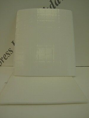 160 x White Foam Pads Self Adhesive Double Sided 12x12x2mm (1237)
