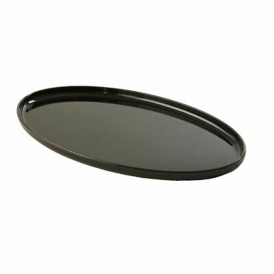 Small Black Oval Tray Serving Tea Restaurant Catering Presentation Polycarbonate