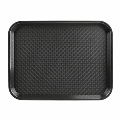 Kristallon Large Fast Food Tray in Black - Stackable - 350 x 450 mm