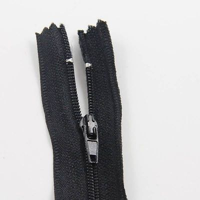 BLACK 4'' - 40'' INCH CLOSED END No 3 NYLON ZIPS *21 SIZES* SEWING ZIPPER NZ3220