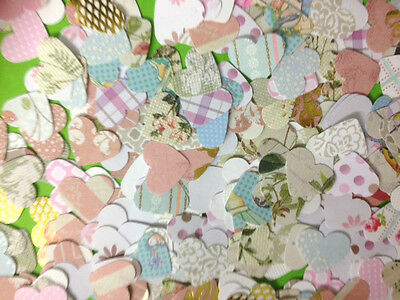 100 Small Paper Heart Valentines Female Card Making Craft Embellishments