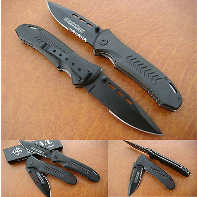 Smith & Wesson CK08TBS Combat Tactical Folding Black Blade Pocket Boot Knife TG8