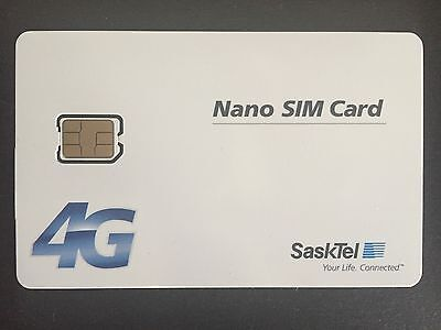 New SaskTel Nano Sim Card 4G LTE Canada Saskatchewan Travel