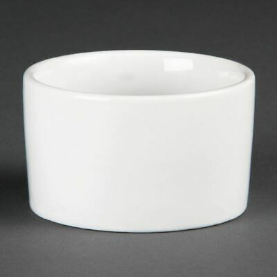 Pack of 12 Olympia Whiteware Contemporary Ramekins 90mm Porcelain