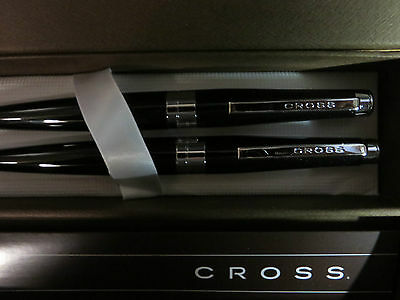 Cross 2015 Limited Edition  Black and Chrome Ballpoint Pen & 0.7mm Penci Set