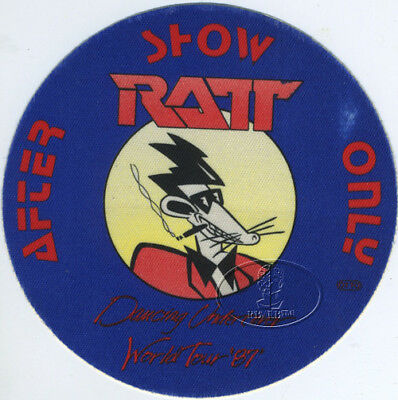 RATT 1987 DANCING UNDERCOVER TOUR BACKSTAGE PASS blue