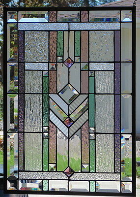 """Stained Glass Window Hanging 17 X 24"""""""