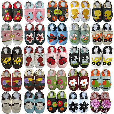 carozoo UK leather soft sole baby/toddler/kids first shoes slippers up to 8 YRS