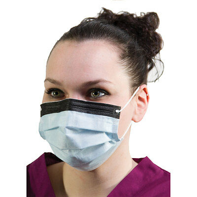 Disposable Surgical Face Masks Earloops Anti-fog Foam band Latex free Blue 30...