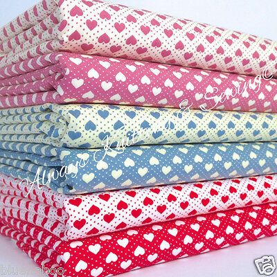 Per half metre/fat quarter cotton poplin small hearts 100 % cotton fabric