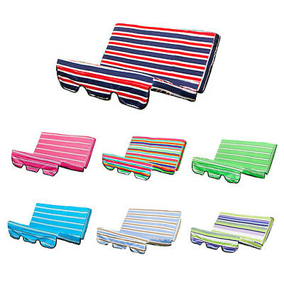 Stripes Replacement Cushion Swing Seat Hammock Garden Pads Waterproof 2/3 Seater