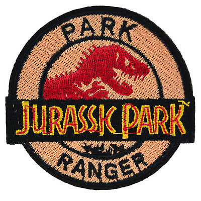 Jurassic Park Ranger Iron On Patch Uniform Movie Film Cosplay Logo Costume