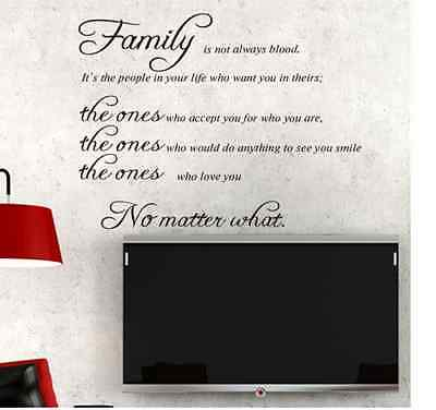 Family Quote Life Love Wall Sticker Art Vinyl Home Decal Decor Mural Removable