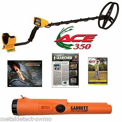Garrett New Ace 350 Metal Detector and New Pro Pointer AT Waterproof Pinpointer!