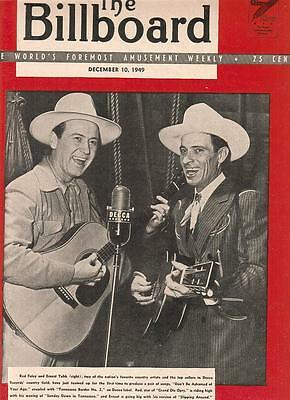 Grand Ole Opry Red Foley and Ernest Tubb teaming on Decca 1949 Ad