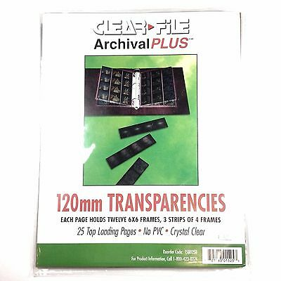 Clear File Archival Plus 15B 120mm Transparency Storage Sheet, Pack of 25 #63294