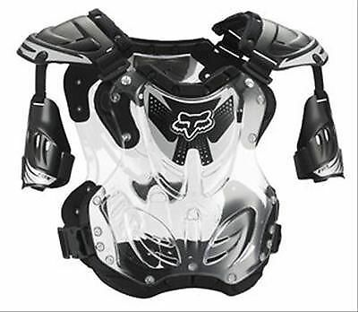 Fox Racing R3 Roost Deflector Black Clear Chest Protector Adult Large 155-210 LB