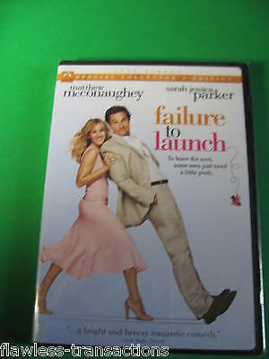 FAILURE TO LAUNCH 2006 Full Screen Special Collectors DVD McConaughey Parker NEW