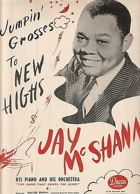 Jay McShann 1944 Ad- Jumpin Grosses To New Highs/on Decca