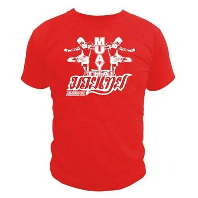 Red 'twin' T-Shirt Top For Muay Thai Martial Arts Sports