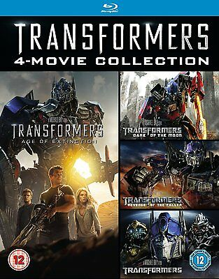 Transformers 1- 4 Movie collection Blu ray RB Age Of Extinction Dark of the Moon