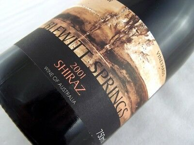 2001 HILLSVIEW Vineyard Blewitt Springs Shiraz Isle of Wine