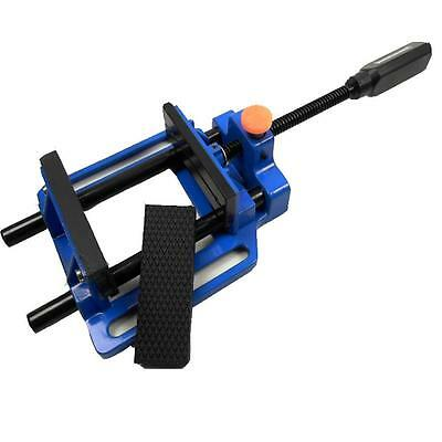 """Large Quick Release Cast Metal Drill Press Vice 100 Mm 4"""" Steel & Rubber Jaws"""