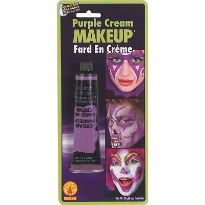 Halloween Fancy Dress Purple Witch Face Paint Party Make Up 1.0oz Cream Tube