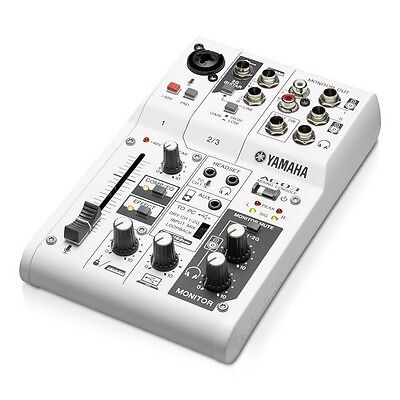 Yamaha AG03 Multipurpose 3-Channel Mixer with USB Audio Interface w/ Cubase AI