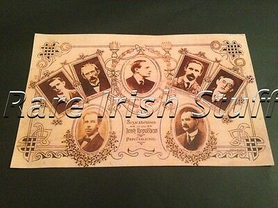 1916 Irish Proclamation Signatories - Pearse, Clarke, Plunkett etc Tribute Print