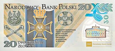 Poland 20 Zlotych Polymer Commemorative With Folder 2014 Unc