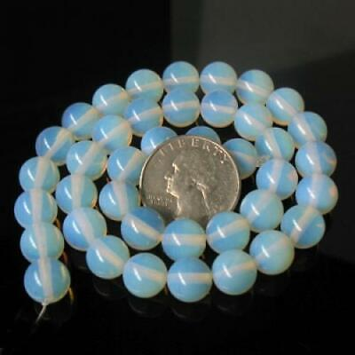 10mm Fire Opal Opalite Round Gemstone Loose Beads 15""