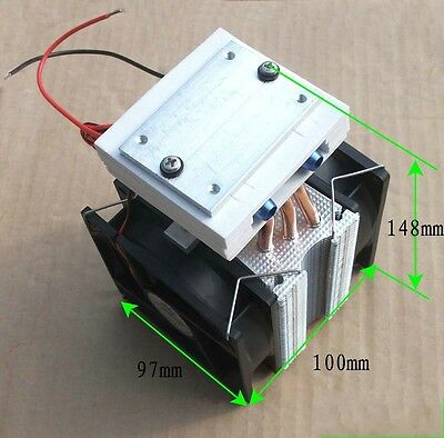 Thermoelectric Peltier Refrigeration Cooling System Kit Cooler fan + TEC1-12715