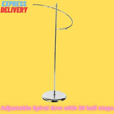 New Heavy Duty Spiral Clothes Garment Dress Hanging Rail