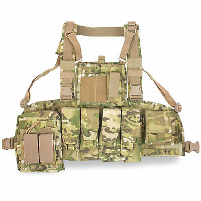 Bulldog Military Army Tactical Operator MOLLE Chest Rig Harness Vest Carrier MTP