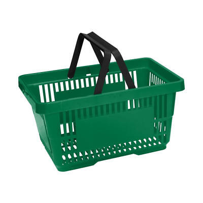 10x Green Supermarket Grocery Shopping Basket DIY Retail Shopping Basket