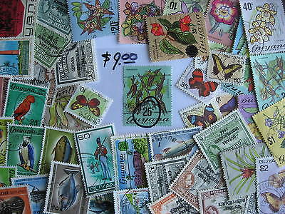 GUYANA older collection of 47 different. No Br Guiana here PLZ Read description