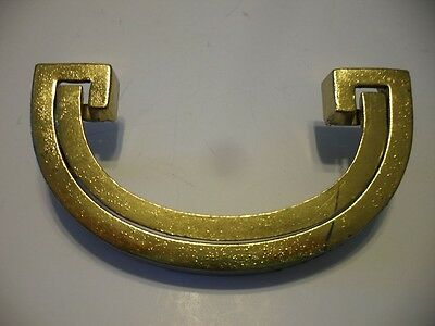 Vintage NOS Brass Plated Metal Dresser Drawer Pulls U-Shaped Bail Style Handles